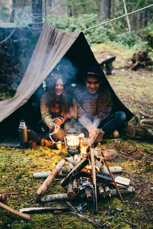 Life's beautiful moment of having fun camping out with someone you love!