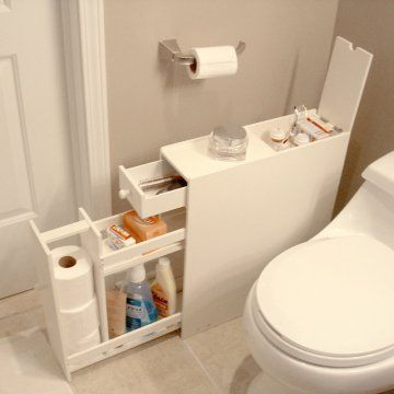 With a little more detail to why way it looks this is a good idea. Proman Bath Floor Cabinet - Space Savers at Hayneedle