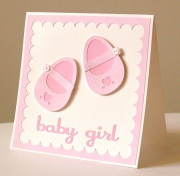 Thoughts of You Greetings Cards | Handmade Baby Bootie Card | Made by Hands of Britain