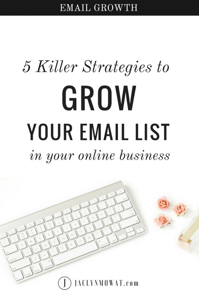 Building your email list is one of the best ways to grow your online business. It's a great tool to find and nurture an amazing community.