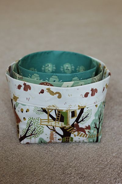 Tutorial: fabric bins featuring fort firefly by christina mckinney {a Pellon®