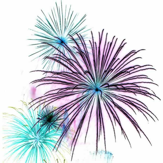 July Fireworks Clipart