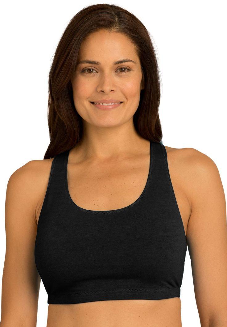 Plus Size Light impact cotton active Cotton sports bra