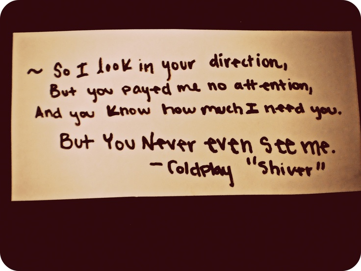 Thinkin' of you---Coldplay