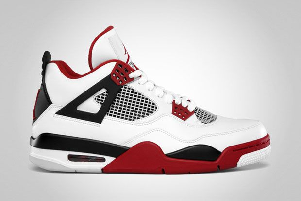 """Not really a jordans fan but these are pretty slick...Air Jordan 4  """"Fire Red"""" Retro"""