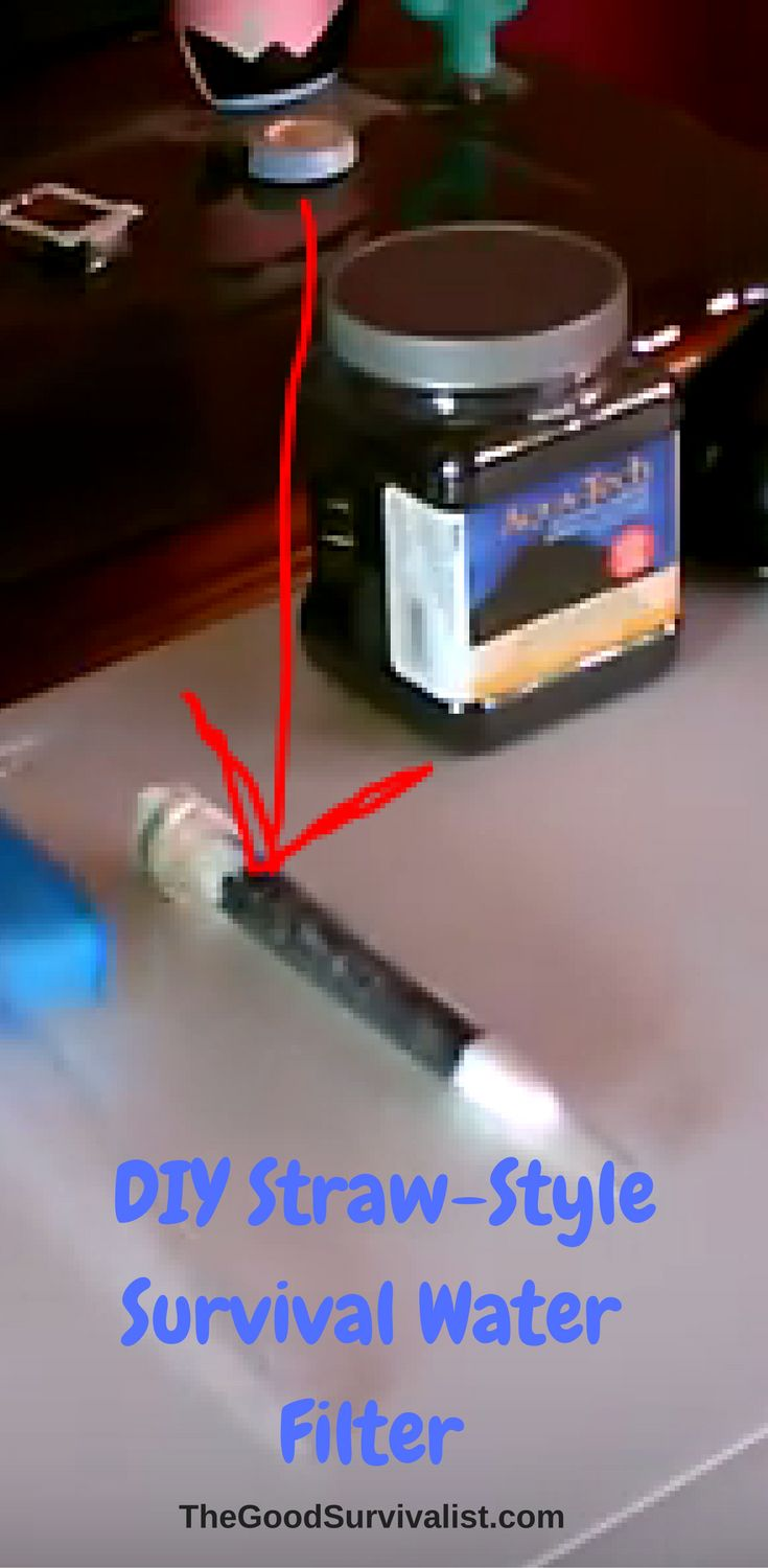 You've probably seen these straw style water filters advertised all over.  Internet survival sites. More than likely you've seen the ad that shows  a survivalists using his water filter survival straw to drink directly from a stream.  http://www.thegoodsurvivalist.com/you-can-make-this-yourself-how-to-make-a-diy-straw-style-survival-water-filter/