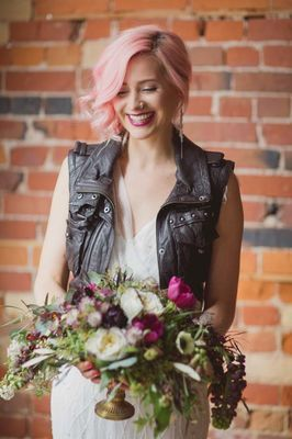 Classic Rock meets Hippie love with these Rock 'n Roll Wedding Ideas. Designed by Love by Lynzie Weddings + Events and photos by Elizabeth In Love