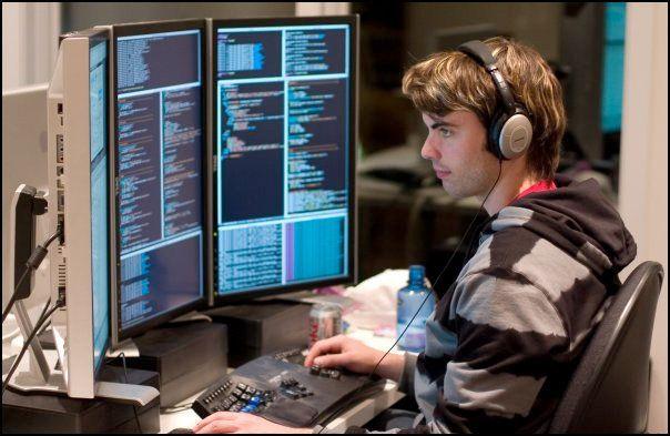 Image result for programmer on headset
