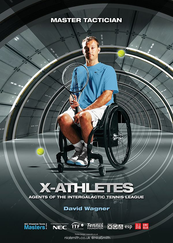 Poster design for the NEC Wheelchair Tennis Masters 2014
