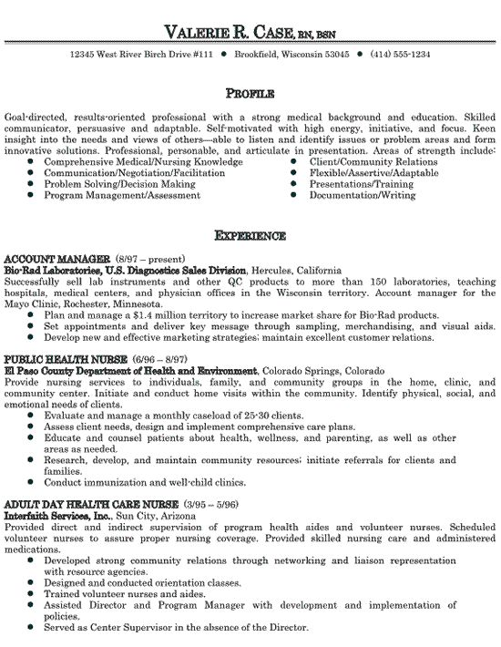 8 best Resume images on Pinterest Sample resume, Registered - public health nurse sample resume