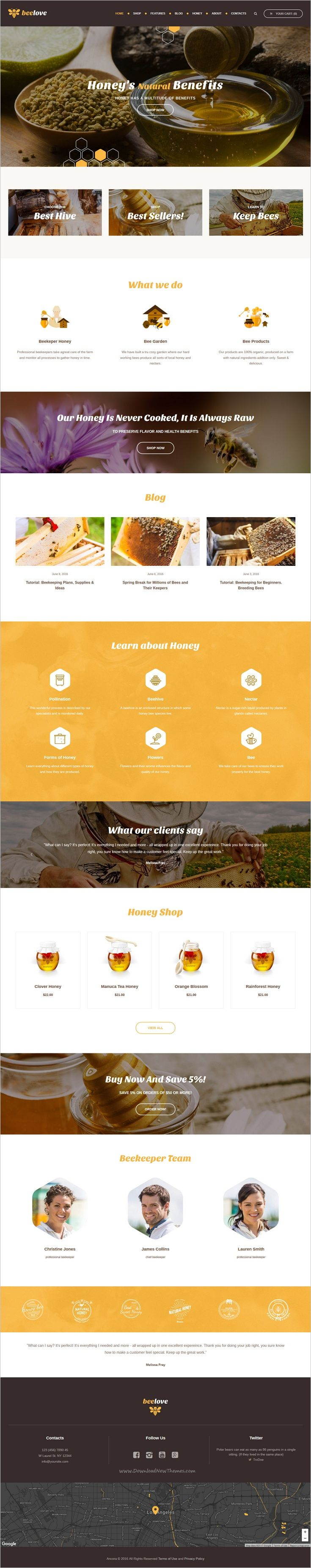 Beelove is a modern and functional design responsive #WordPress theme for #Honey Production Company and #Beekeeping websites download now➩ https://themeforest.net/item/beelove-honey-production-and-online-shop-wordpress-theme/17026538?ref=Datasata