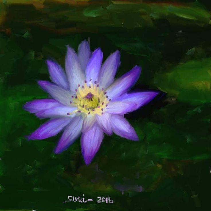 "Saatchi Art Artist Susi Cahyani; Painting, ""Lotus"" #art"