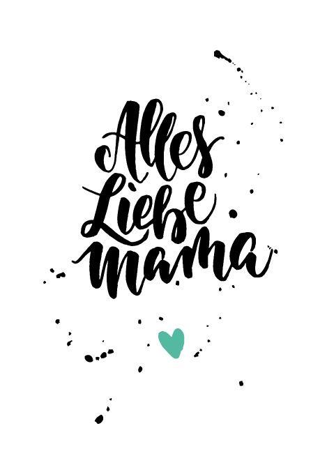 Die schönsten Muttertagskarten zum Ausdrucken! – ninotschka