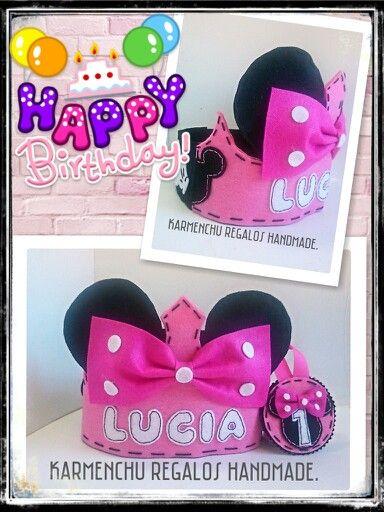 Corona de Cumpleaños  Minnie  Sigueme en facebook  KARMENCHU REGALOS HANDMADE