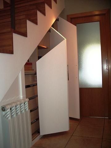Top 62 ideas about escalera on pinterest daniel o 39 connell outdoor storage and remodeling ideas - Armario hueco escalera ...