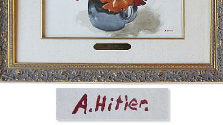 Una mujer donó una desconocida pintura de Adolf Hitler que su padre adquirió a un precio irrisorio