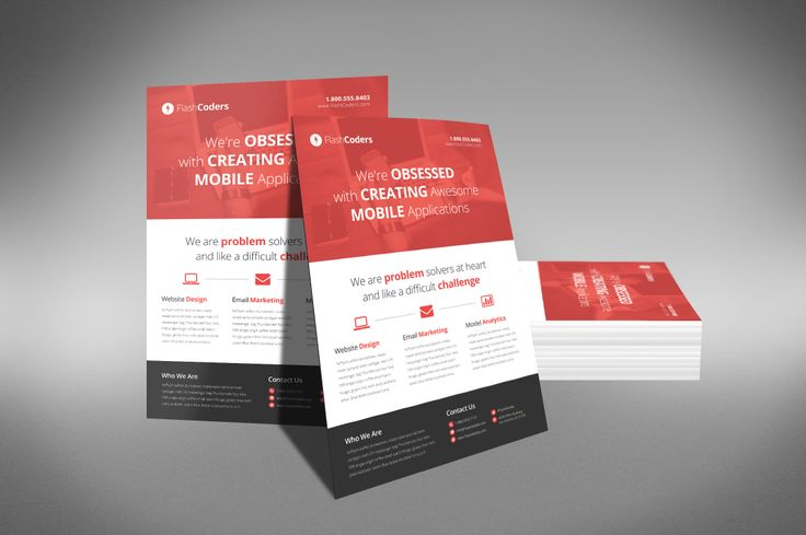 A Professional and Free Flat Design Corporate Flyer PSD Template - free product flyer templates
