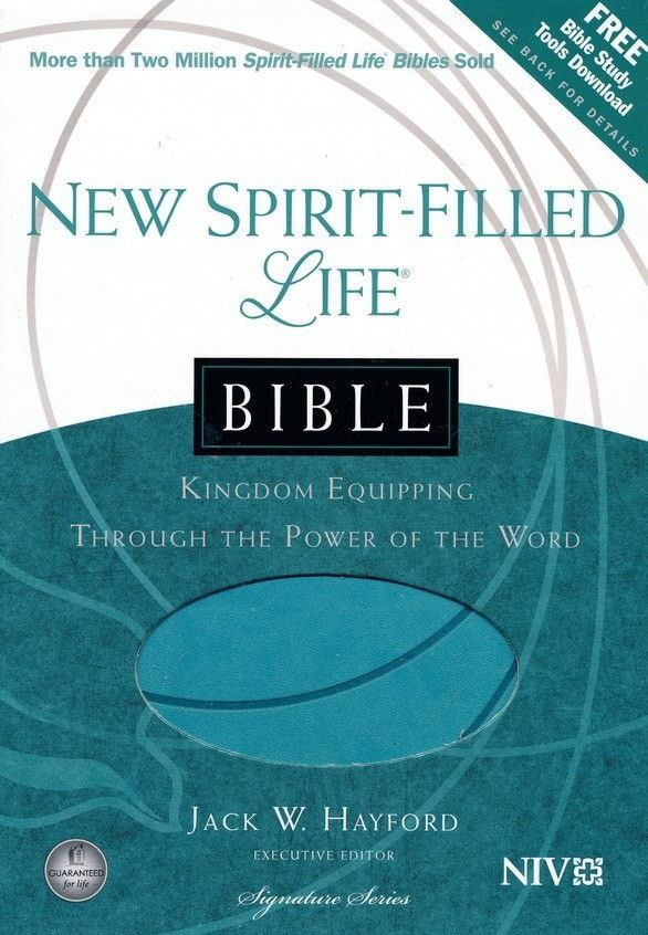 New Spirit-Filled Life Bible-Turquoise Leather (NIV)