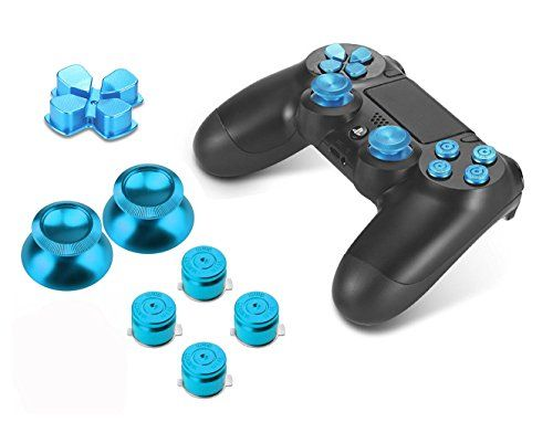 PhoneStar Sony Playstation 4 Dualshock 4 Controller Aluminium Buttons Kappen Ersatzteile Zubehör Thumbsticks Tasten Steuerkreuz für PS4 in blau! #beaphonestar #gamestar #playstation4
