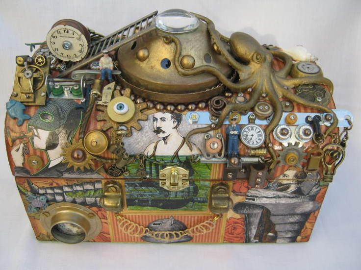"Love this ""Underwater Steam"" altered trunk by @Belinda Dewar! Absolutely so detailed and awesome! #graphic45"