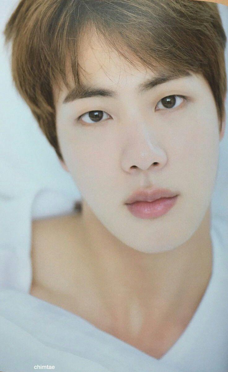 Jin visual face BTS Summer Package 2017 Source: Twitter @chimtae_D