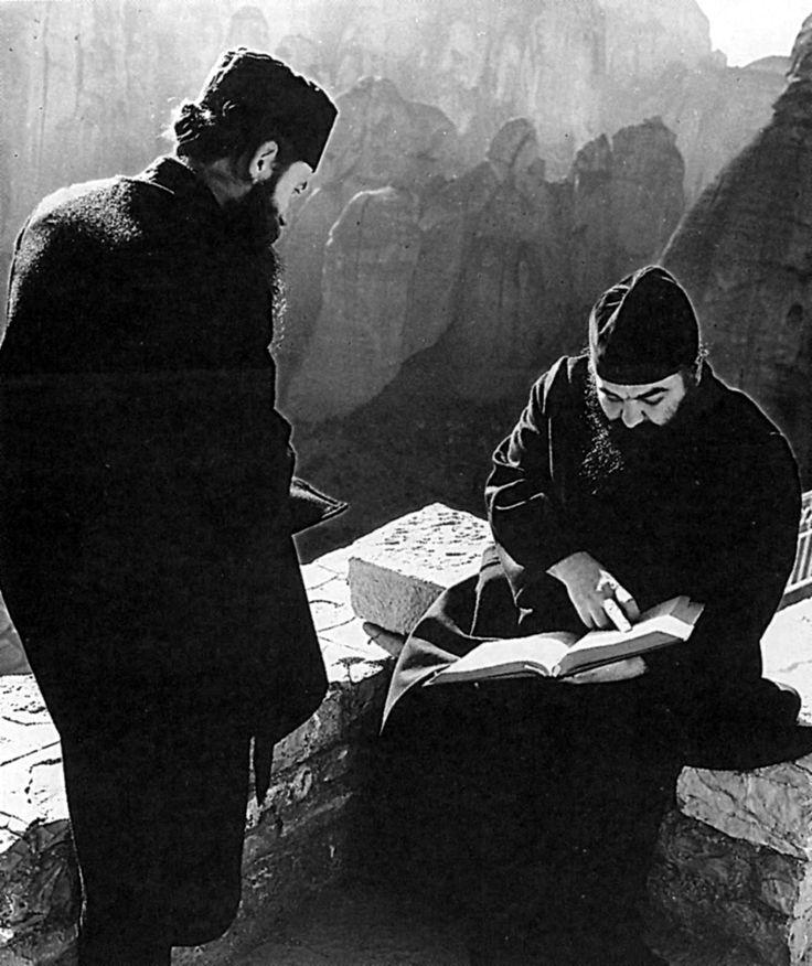 Ωρα μελέτης και περισυλλογής στη Μονή Βαρλαάμ