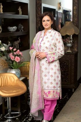 52ab0a995f7d Gul Ahmed 3 Piece Summer Essential 2018 Custom Stitched Lawn Suit - CL-390 A