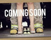 Pregnancy announcement: Printable (Coming Soon photo pregnancy announcement card)