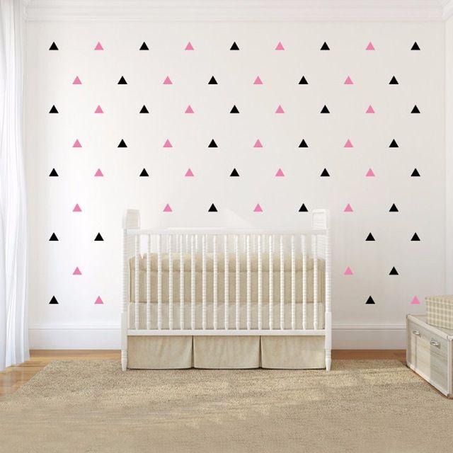 120 pçs/set Triângulos Padrão Decalque em Parede 1,2 ou 3 cores DIY Crianças Quarto do berçário Decalque Home Decor Adesivo de Parede Frete Grátis 714