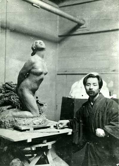 荻原守衛という彫刻家。Ogiwara Rokuzan
