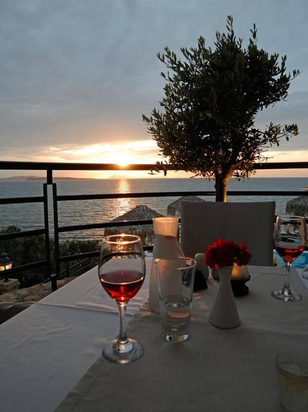 Enjoy with your loved one a wine, while you gaze the amazing view! #DelfinoBlu #Corfu #Romance Photo credits: @Strandjefan