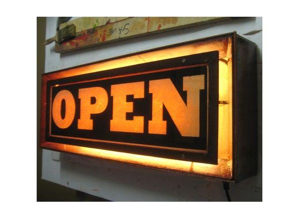 cool open sign restaurant style pinterest