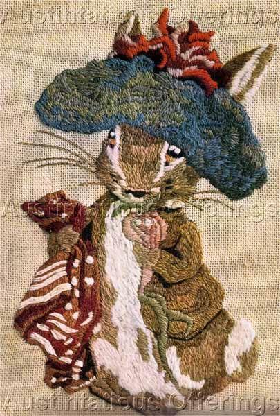 Rare Beatrix Potter Benjamin Bunny Crewel Embroidery Kit