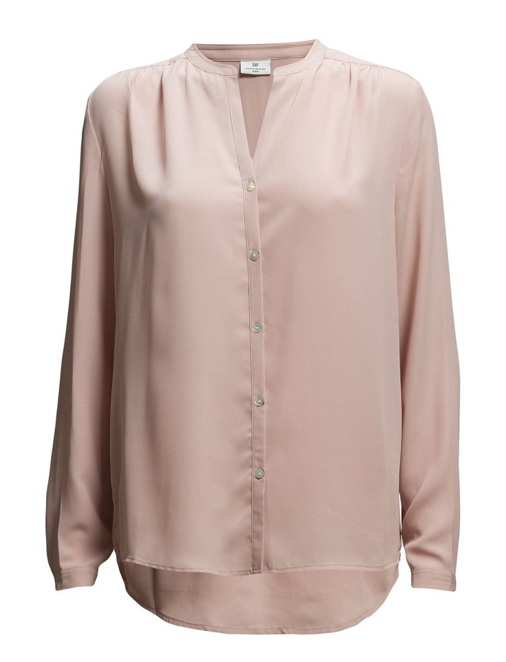 DAY - Day Femme-Front button placket Pleat details Button cuffs Curved hemline Mandarin style collar Excellent quality and fit Modern Office wear Practical Refined