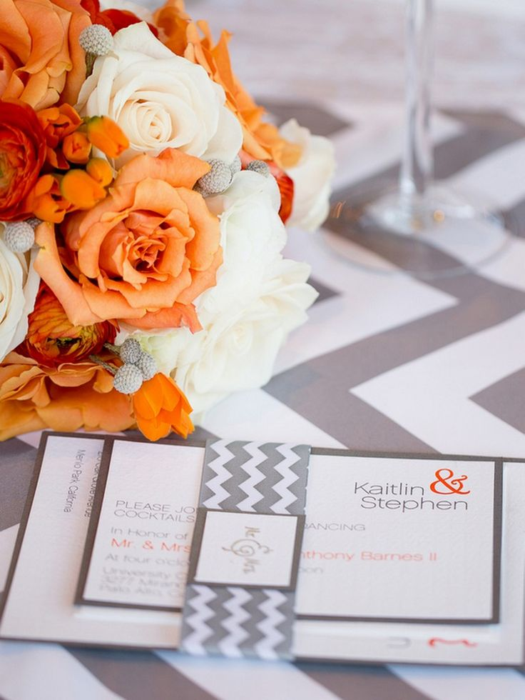 Orange and Grey Wedding by Portrait Design by Shanti - KnotsVilla