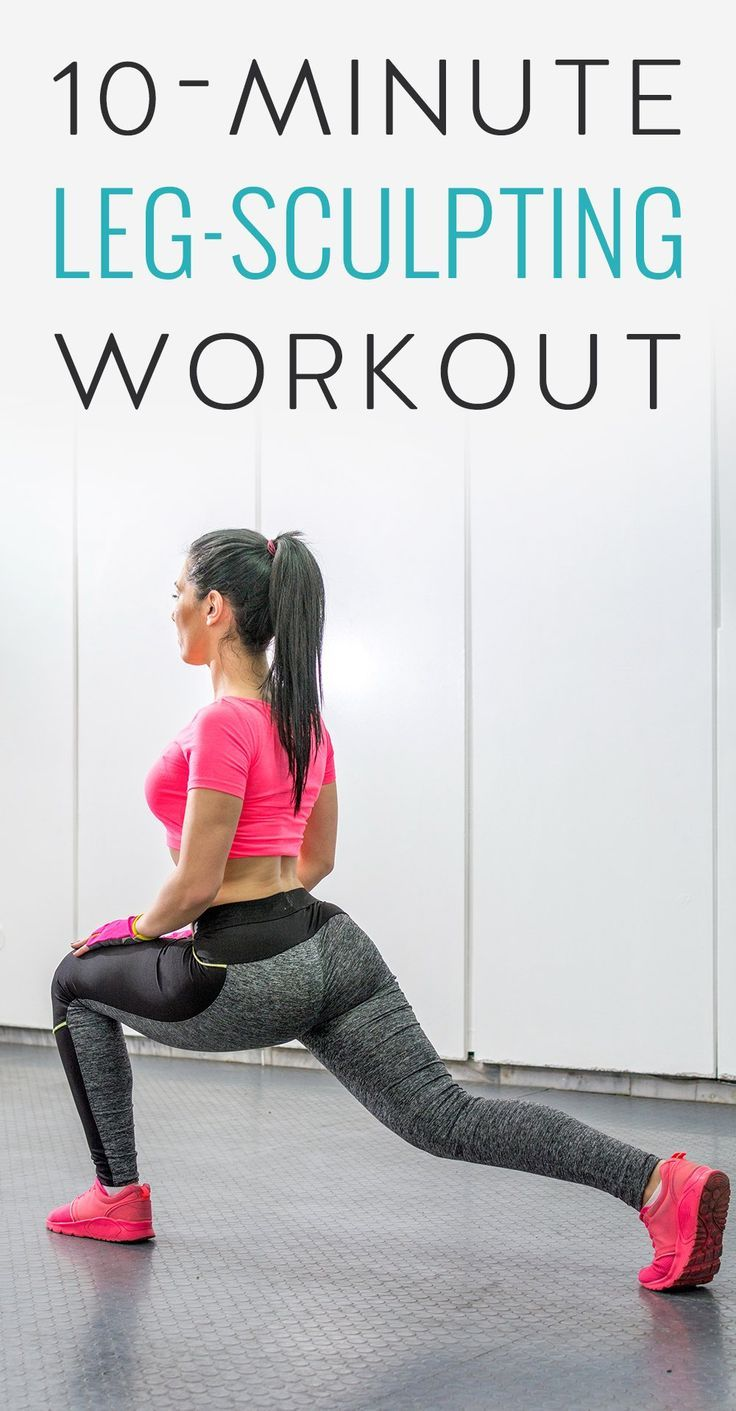 This leg workout combines moves for strength and muscular endurance. For the strength exercises (goblet, lunge and deadlift), choose a weight that is challenging but doable for the timed sequence. For the muscular endurance exercises (speed skaters and kettlebell swing), move as quickly as you can.