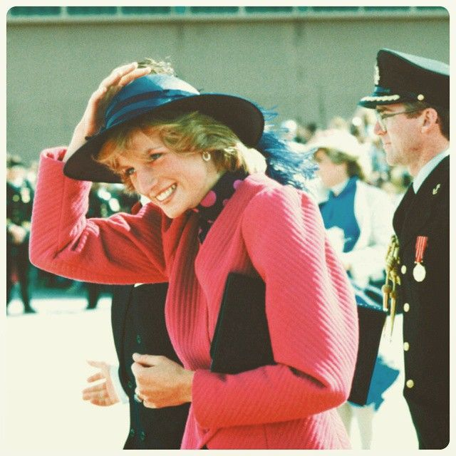 """""""01 July 1983: On her first official visit to Canada, Princess Diana celebrated her 22nd birthday in Edmonton, where she was presented with a birthday gift of a glass dressing table set   #happybirthday"""