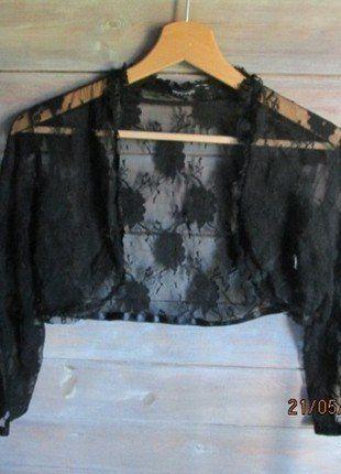 Kup mój przedmiot na #vintedpl http://www.vinted.pl/damska-odziez/marynarki-zakiety-blezery/18480230-bolerko-koronkowe-czarne