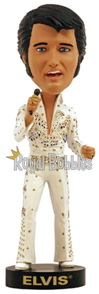 This beautiful Elvis Presley #bobblehead is officially licensed by Elvis Presley Enterprises. #RoyalBobbles