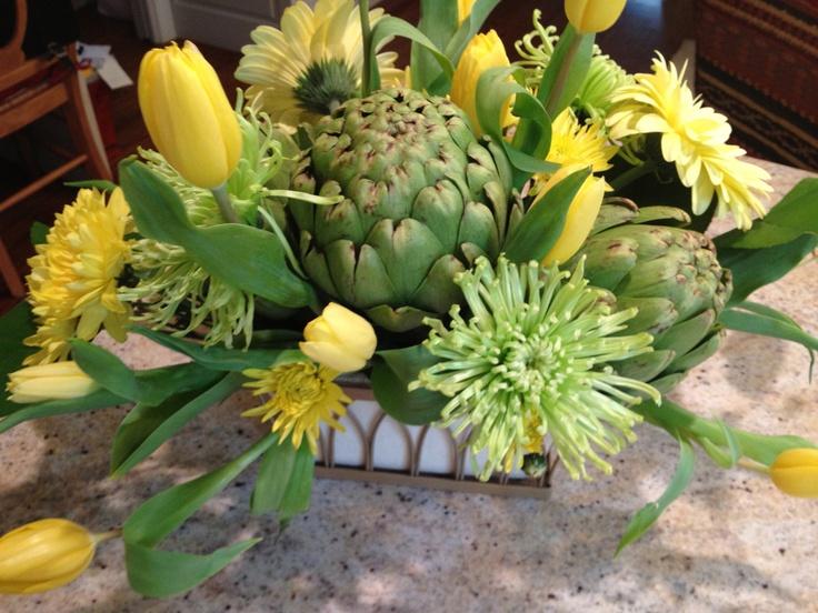 Floral arrangement spring centerpiece summer by