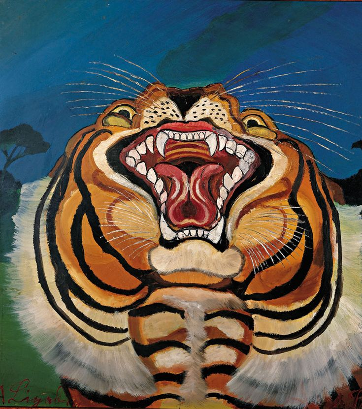 Testa di tigre, 1955-1956 - Antonio Ligabue