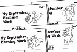August Morning Work (Week 2), Lesson Plans - The Mailbox