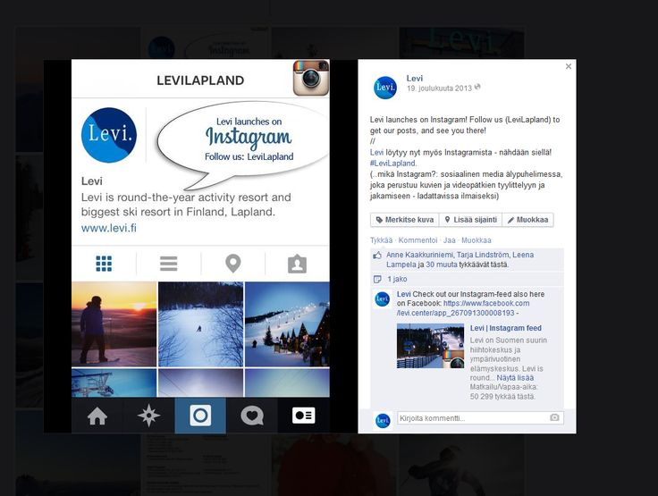 Uuden sosiaalisen median lanseeraus brändille. // Creating and launching a new social media profile for the brand.  #Instragram #SocialMedia #LeviLapland #Levi #MarikaWork