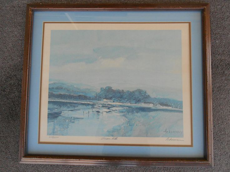 Green Hills Lithograph, signed, numbered by Gary Ackerman