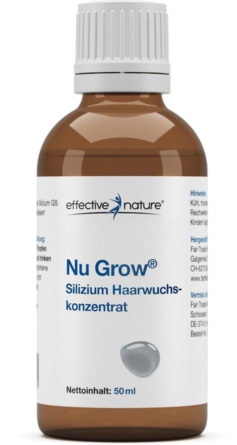 Worum handelt es sich bei Nu Grow von effective nature? Das Nu-Grow-Silizium-Haarwuchskonzentrat von effective nature wirkt unterstützend auf den Haarwuchs und die Kopfhaut. Das Silizium, das zu den Spurenelementen gehört, in...