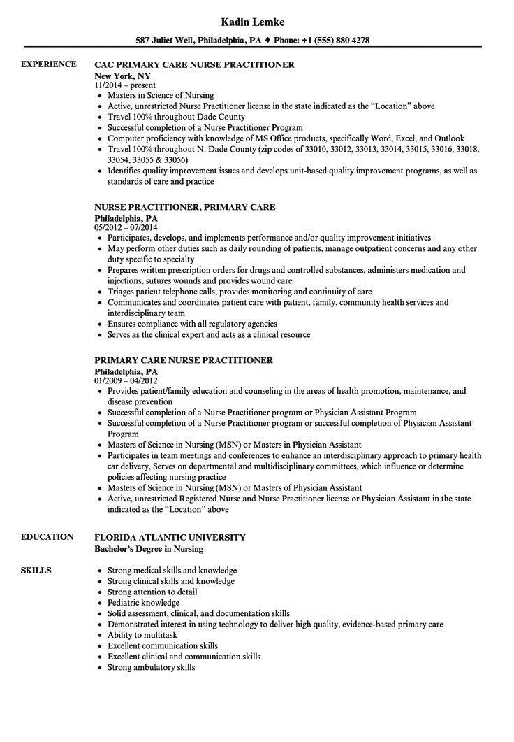 nurse practitioner resume sample