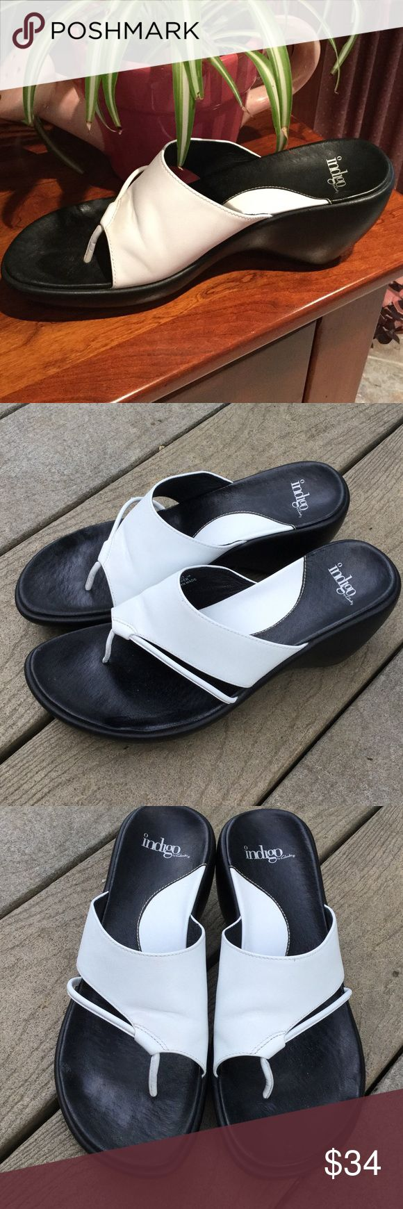 Indigo (Clarks) Leather Wrap Sandals in White The mirror image to the tan Indigos in my other listing. Clarks Indigo Shoes Sandals