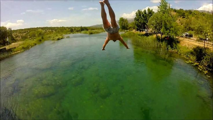 Jumping into the Zrmanja River, Croatia - GoPro Hero