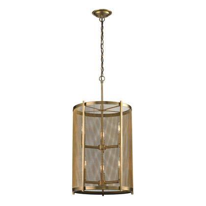 Elk Lighting Rialto 6 Light Pendant in Aged Brass
