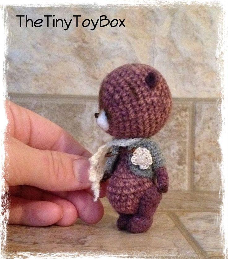 Sold $138.49     OOAK ARTist Miniature Bear / Doll Vintage Style by TheTinyToyBox Thread Crochet